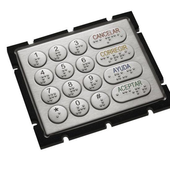 Tastenfeld mit Braille-Beschriftung