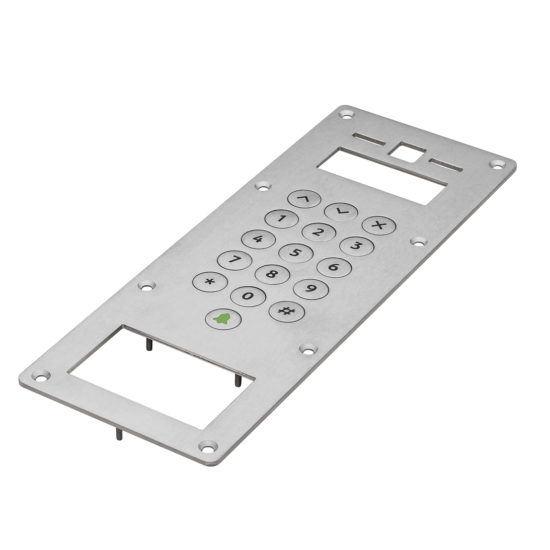 Stainless steel keyboard for access control