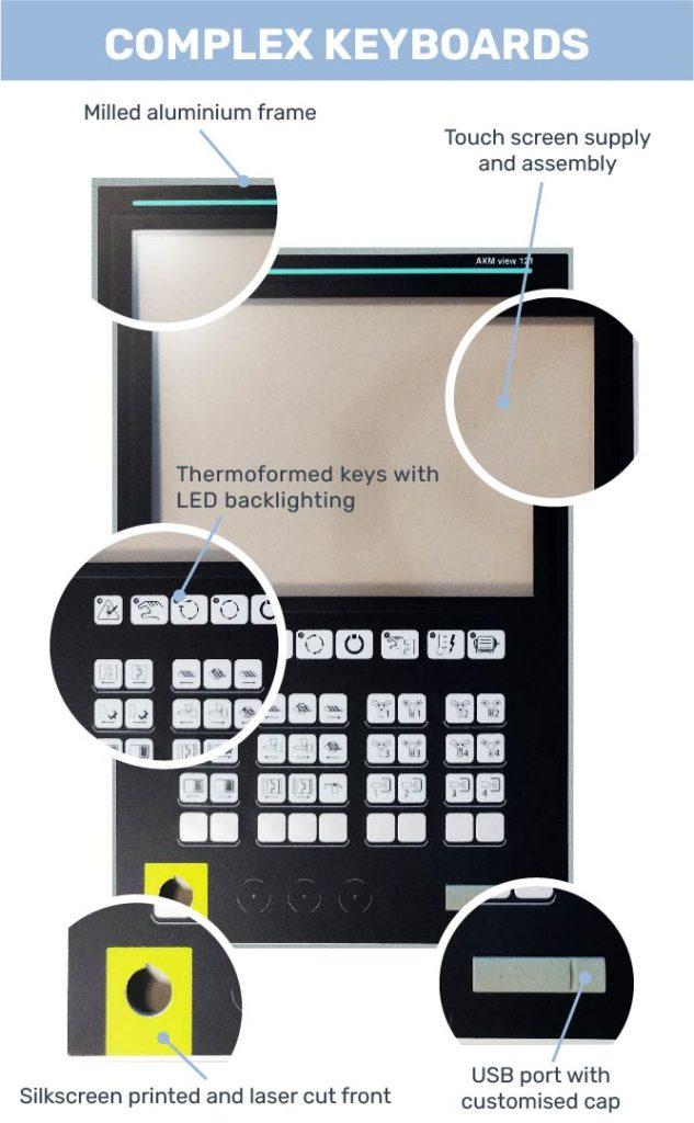 Complex Keyboards Grafos Steel